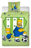 Dětské povlečení Bart a Homer zelený