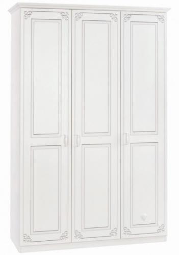 Třídveřová šatní skříň Betty - bílá
