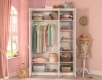 Třídveřová šatní skříň Betty