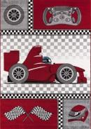 Dětský kusový koberec Formule 460 Red