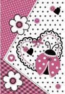 Dětský koberec Ladybug pink