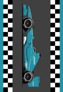 Dětský kusový koberec Racing Blue