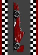 Dětský kusový koberec Racing Red