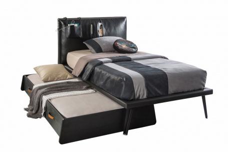 Dětská postel Nebula I 100x200cm se zásuvkou - černá
