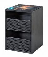 Kontejner do šatní skříně Nebula - černá/šedá