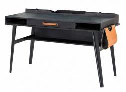 Velký psací stůl Nebula - šedá/černá