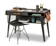 Dětský psací stůl Nebula - šedá / černá