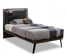 Studentská postel Nebula II 120x200cm - černá / šedá