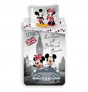 Dětské povlečení Mickey a Minnie v Londýně
