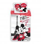 Dětské povlečení Mickey a Minnie I love you Paris