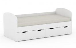 Dětská postel REA Golem se 2 šuplíky – bílá