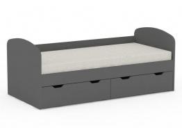 Dětská postel REA Golem se 2 šuplíky – graphite