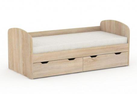 Dětská postel REA Golem se 2 šuplíky – dub bardolino