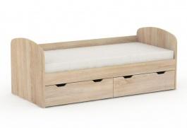 Dětská postel REA Golem se 2 šuplíky – dub