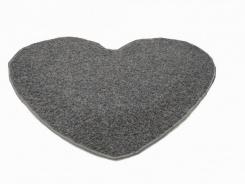 Koberec Elite Shaggy srdce 120 cm - světle šedá