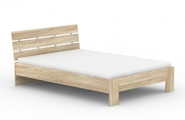 Moderní postel REA Nasťa 140x200cm - dub bardolino