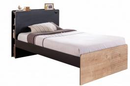 Studentská postel 120x200cm Sirius - dub černý/dub zlatý