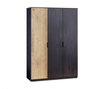 Třídvéřová šatní skříň Sirius - dub černý/dub zlatý