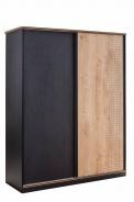 Šatní skříň s posuvnými dveřmi Sirius - dub černý/dub zlatý