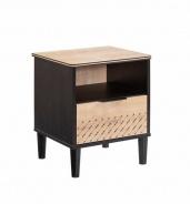 Noční stolek Sirius - dub černý/dub zlatý