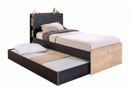 Dětská postel Sirius se zásuvkou 100x200cm - dub černý/dub zlatý