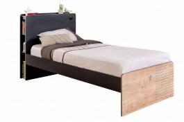 Dětská postel 100x200cm Sirius - dub černý/dub zlatý