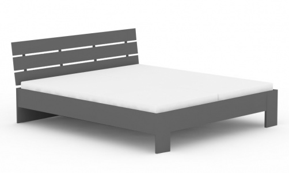 Manželská postel REA Nasťa 180x200cm - graphite