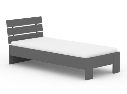 Dětská postel REA Nasťa 90x200cm - graphite