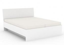Manželská postel REA Oxana 160x200cm – bílá