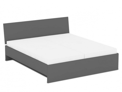 Manželská postel REA Oxana 180x200cm - graphite