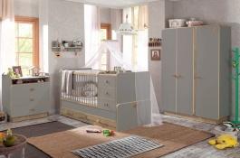 Dětský pokoj Oliver II - šedá/dub světlý
