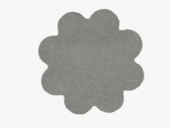 Koberec Color Shaggy - šedá - kytka