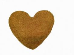 Koberec Elite Shaggy srdce 120 cm - světle hnědá
