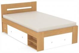 Studentská postel REA Larisa 120x200cm s nočním stolkem - buk
