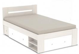 Studentská postel REA Larisa 120x200cm s nočním stolkem - navarra