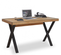 Industriální psací stůl Sirius - dub zlatý/černá