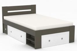 Studentská postel REA Larisa 120x200cm s nočním stolkem - graphite