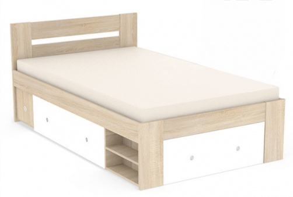 Studentská postel REA Larisa 120x200cm s nočním stolkem - dub bardolino