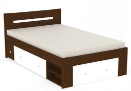Studentská postel REA Larisa 120x200cm s nočním stolkem - wenge