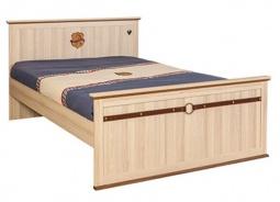 Studentská postel Cavalos 120x200cm - akácie světlá/dub tmavý