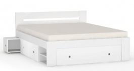 Postel REA Larisa 160x200cm s nočními stolky - bílá