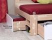 Postel REA Larisa 160x200cm s nočními stolky - dub bardolino