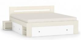 Manželská postel REA Larisa 180x200cm s nočními stolky - navarra