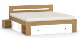Manželská postel REA Larisa 180x200cm s nočními stolky - buk