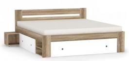 Manželská postel REA Larisa 180x200cm s nočními stolky - dub canyon