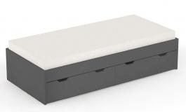 Dětská postel s úložným prostorem REA Misty 90x200cm - graphite