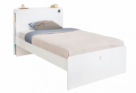 Studentská postel 120x200cm Pure - bílá