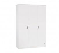 Třídvéřová šatní skříň Pure - bílá