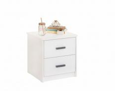 Noční stolek Pure - bílá