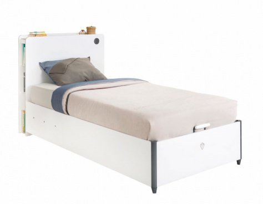 Dětská vyklápěcí postel Pure 100x200cm - bílá